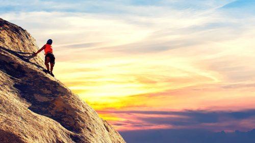 voll du Bergsteigen
